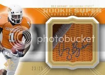 2010 Upper Deck UD SP Authentic Super Patch Autograph Dez Bryant