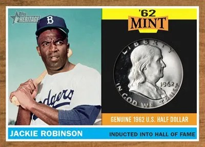 2011 Topps Heritage Jackie Robinson '62 Mint Coin Card