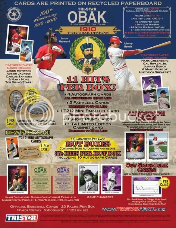 2010 Tri Star Obak Baseball Sell Sheet