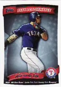 2010 Topps Series 2 Josh Hamilton Peak Performance