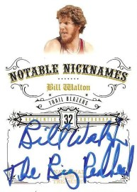 09/10 Panini National Treasures Notable Nicknames Auto Bill Walton