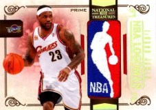 09/10 Panini National Treasures LeBron James NBA Logoman