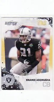 2010 Score Football Nnamdi Asomugha Gold Zone
