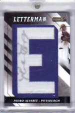 2008 Razor Letterman Pedro Alvarez Autograph Patch Card