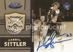 2010-11 Panini Certified Darryl Sittler Autograph Card