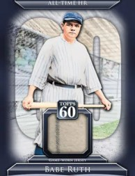 2011 Topps 60 Babe Ruth Relic Card