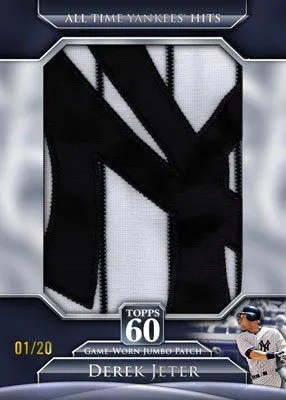 2011 Topps 60 Jumbo Relic Derek Jeter Game Worn Patch Card