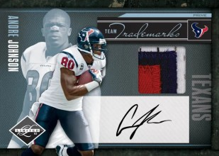 2010 Panini Limited Andre Johnson Team Trademarks Jersey Card