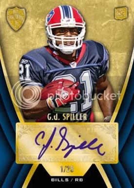 2010 Topps Supreme CJ Spiller Autograph Blue Parallel Version