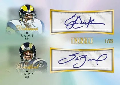 2010 Topps Tribute Eric Dickerson Sam Bradford Dual Autograph Card