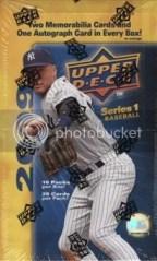 2009 Upper Deck Baseball Hobby Box