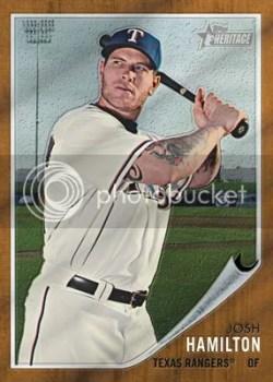 2011 Topps Heritage Baseball Josh Hamilton Base Card