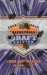 2009/10 Upper Deck UD Draft Edition Basketball Hobby Box