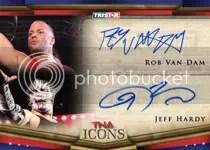 2010 TNA Icons Rob Van Dam Jeff Hardy Dual Autograph