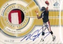 2001 Sp Authentic Michael Vick Patch Auto RC #/250