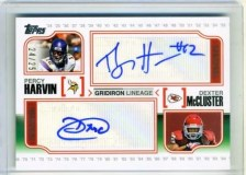 2010 Topps Percy Harvin/Dexter McCluster Dual Auto