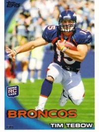 2010 Topps Tim Tebow Rookie RC #440