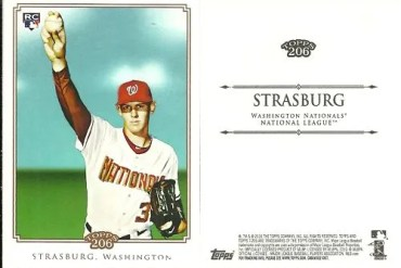 2010 Topps 206 Stephen Strasburg NNO SP Variation Card