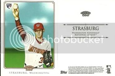 2010 Topps 206 Stephen Strasburg NNO SP Variation Card