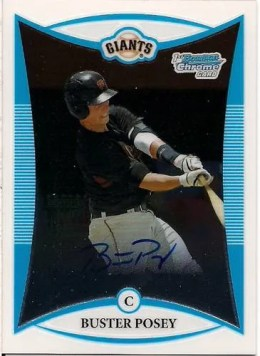 2008 Bowman Chrome Draft Buster Posey Auto RC