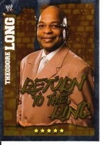 2010 Slam Attax Mayhem Teddy Long GM Card