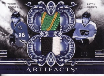 2010/11 Upper Deck Artifacts Tundra Tandems Patrick Kane James Van Riemsdyk Dual Jersey #1/5