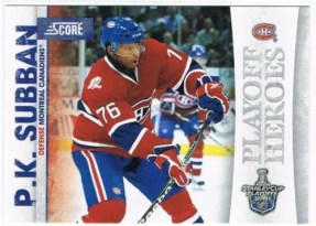 2010/11 Score P.K. Subban Playoff Heroes Insert Card