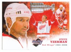 2010/11 Upper Deck Steve Yzerman Heroes Art Card