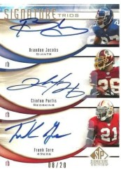2009 Upper Deck Sp Signature Triple Gore/Jacobs/Portis