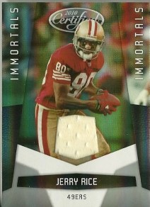 2010 Certified Immortals Jerry Rice Jersey