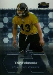 2003 Topps Finest Troy Polamalu Rookie RC #61