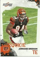 2010 Score Jermaine Gresham Rookie RC Card