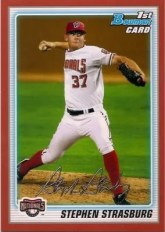 2010 Bowman Stephen Strasburg Red Parallel /1 RC