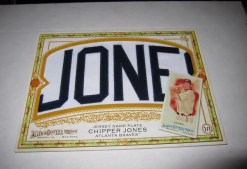 2010 Topps Allen & Ginter Chipper Jones Nameplate Box Loader
