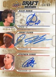 2009/10 UD Draft Edition Draft Class Triple Auto