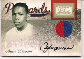 2010 Panini Century Collection Andre Dawson Postcards Autograph