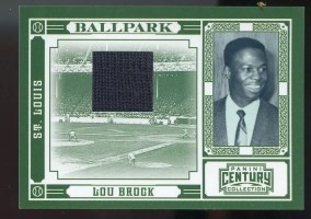 2010 Century Collection Ballpark Jersey Lou Brock