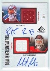 ROY BRODEUR 10/11 SP GAME USED AUTOGRAPH JERSEY 5/5