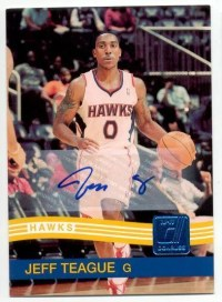 2010/11 Donruss Jeff Teague Autograph Card