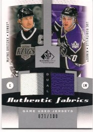 Gretzky-Robitaille 10-11 Sp Game Used Dual Jersey #/100