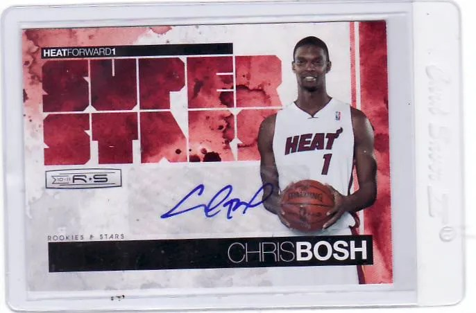 2010/11 Panini Rookies and Stars Super Stars Chris Bosh Autograph #/10