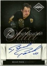 2010/11 Limited Brad Park Select Autograph