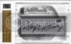 2010 Famous Fabrics Stephen Strasburg Autograph Cut Hat