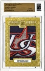 2010 Famous Fabrics Stephen Strasburg Incredible Emblems Patch