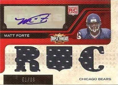 2008 Topps Triple Threads #124 Jersey Auto RC #/89