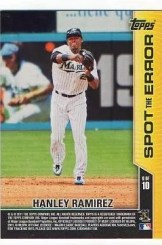 2011 Topps Opening Day Hanley Ramirez Spot the Error