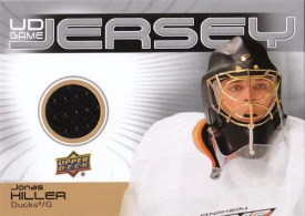 JONAS HILLER 2010-11 UPPER DECK SERIES 2 GAME JERSEY
