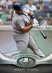 2011 Bowman Platinum Albert Pujols Base Card