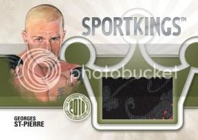 2010 Sportkings Gum George St Pierre Memorabilia Card