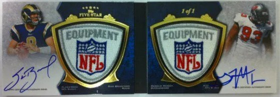 2010 Topps Five Star Sam Bradford Dual NFL Shield Autograph Book #1/1